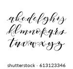 hand written ink  brush pen... | Shutterstock . vector #613123346
