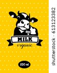 cow. milk and dairy products.... | Shutterstock .eps vector #613123382