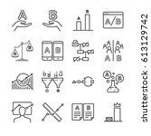 A B Testing Icons Set