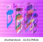 music art vector | Shutterstock .eps vector #613129826