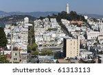 coit tower is a 210 foot  64 m  ... | Shutterstock . vector #61313113