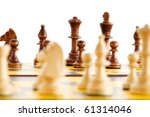 set of chess figures on the... | Shutterstock . vector #61314046