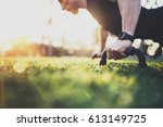 healthy lifestyle concept... | Shutterstock . vector #613149725