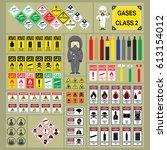 dangerous goods and hazardous... | Shutterstock .eps vector #613154012