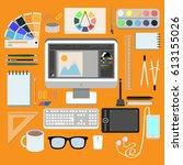 flat design style modern vector ...   Shutterstock .eps vector #613155026