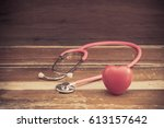 still life red heart and