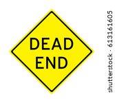 dead end sign vector... | Shutterstock .eps vector #613161605