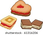 illustration of a cookies on a... | Shutterstock .eps vector #61316206