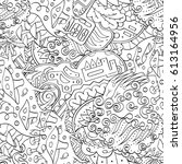 tracery seamless pattern.... | Shutterstock .eps vector #613164956