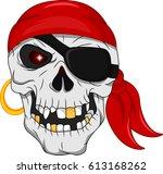 pirate skull mascot | Shutterstock .eps vector #613168262