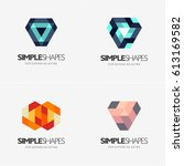 modern colorful abstract vector ... | Shutterstock .eps vector #613169582