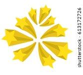 a set of stars. yellow stars... | Shutterstock .eps vector #613172726