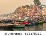 varanasi  india   february 2016 ... | Shutterstock . vector #613175312