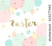 easter greeting card design...   Shutterstock .eps vector #613177442