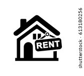 home rent icon | Shutterstock .eps vector #613180256