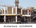 construction of an olympic... | Shutterstock . vector #613184696