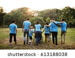 group of diversity people... | Shutterstock . vector #613188038