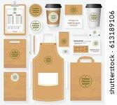 farm fresh shop corporate... | Shutterstock .eps vector #613189106
