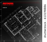 architecture grid blueprint... | Shutterstock .eps vector #613198886