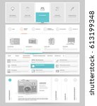 website template elements with... | Shutterstock .eps vector #613199348