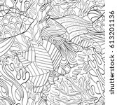 tracery seamless pattern.... | Shutterstock .eps vector #613201136