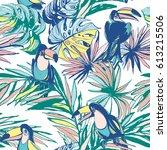 seamless pattern of ink hand... | Shutterstock . vector #613215506