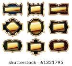 set of golden frames | Shutterstock .eps vector #61321795