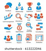 business management icons. | Shutterstock .eps vector #613222046