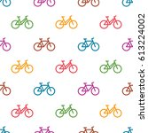 vector seamless pattern with... | Shutterstock .eps vector #613224002