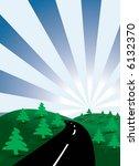 infinity road. vector... | Shutterstock .eps vector #6132370