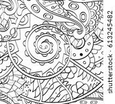 tracery seamless pattern.... | Shutterstock .eps vector #613245482