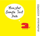 cute monster greeting card | Shutterstock .eps vector #61324903