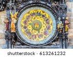 astronomical clock orloj... | Shutterstock . vector #613261232