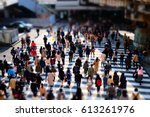 walking people on the street | Shutterstock . vector #613261976