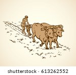 archaic asian and african life... | Shutterstock .eps vector #613262552