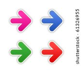 4 colored arrow symbol stickers ... | Shutterstock .eps vector #61326955