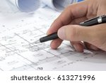 engineering diagram blueprint... | Shutterstock . vector #613271996