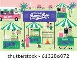 ramadhan bazaar template vector ... | Shutterstock .eps vector #613286072