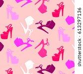 woman pole dance print. exotic...   Shutterstock .eps vector #613297136