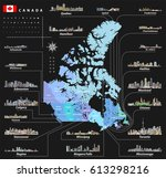 map of provinces and... | Shutterstock .eps vector #613298216