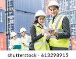 businessman writing notebook...   Shutterstock . vector #613298915