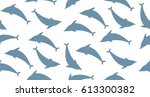 pattern with dolphins on the...   Shutterstock .eps vector #613300382