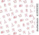 soviet icons seamless vector... | Shutterstock .eps vector #613302302