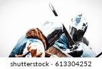 fight of knights on swords.... | Shutterstock . vector #613304252