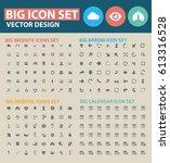 big icon set clean vector | Shutterstock .eps vector #613316528