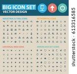 big icon set clean vector