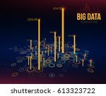 big data visualization.... | Shutterstock .eps vector #613323722