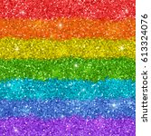 rainbow background with shiny... | Shutterstock .eps vector #613324076