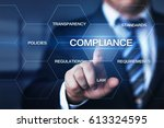compliance rules law regulation ... | Shutterstock . vector #613324595