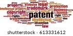 patent word cloud concept.... | Shutterstock .eps vector #613331612